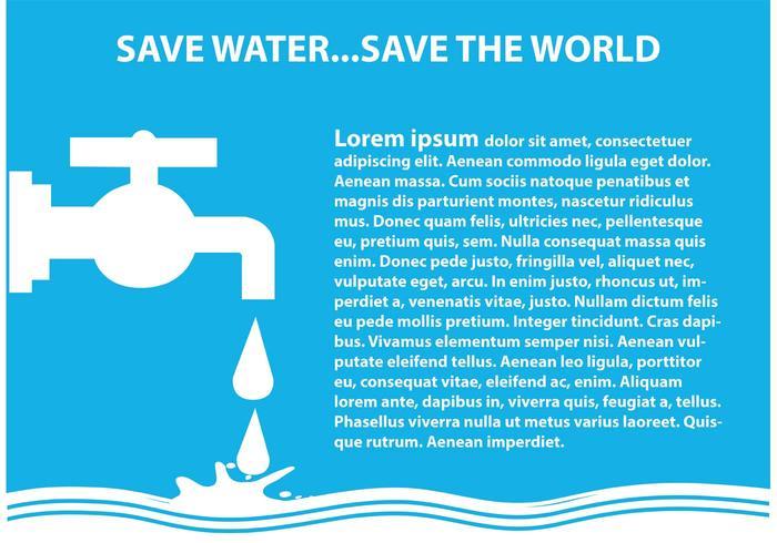 Salva l'illustrazione dell'acqua vettore