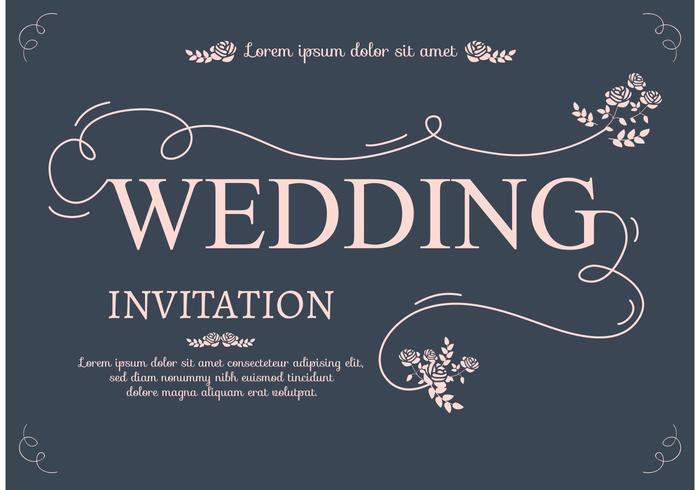Carta di invito a nozze vettore