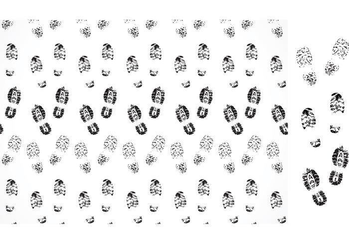 Vettore Muddy Footprints Pattern