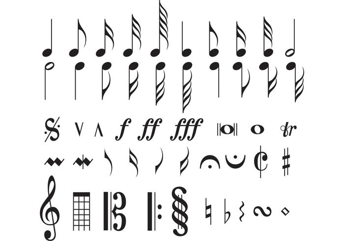 Note musicali vettore