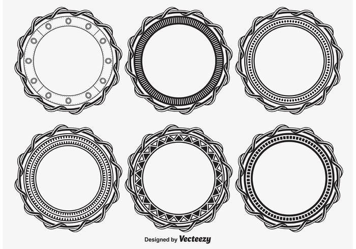 Cornici rotonde decorative vettore