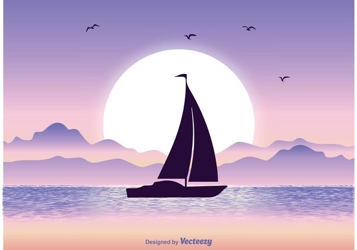 Illustrazione di tramonto vettore