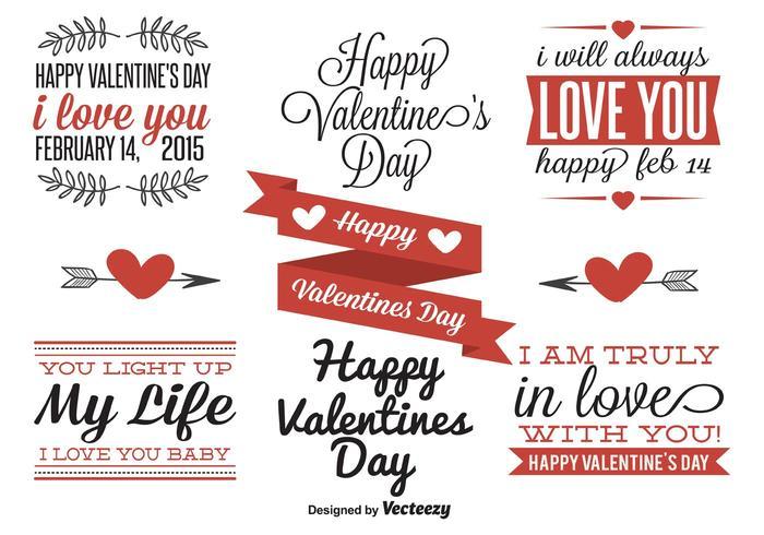 Etichette di San Valentino vettore