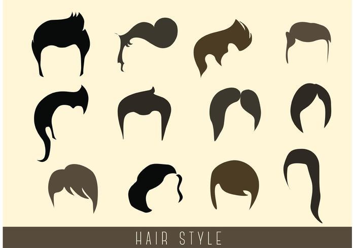 Vettori stile capelli alla moda
