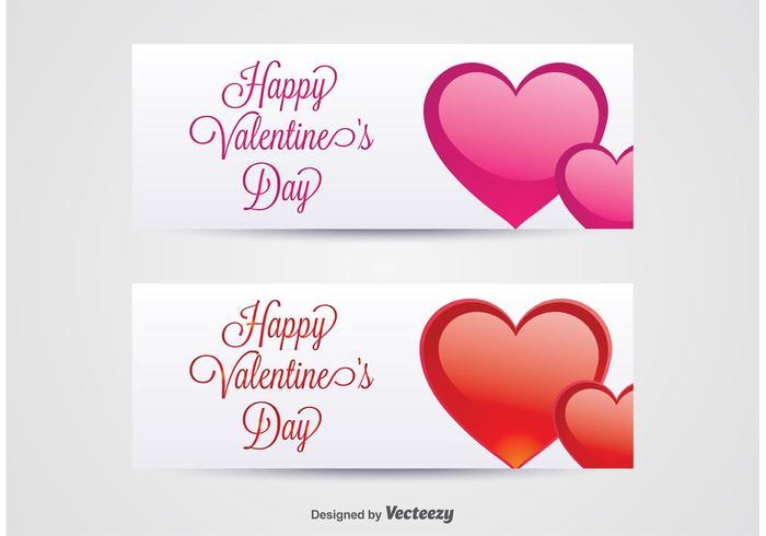 Banner di San Valentino vettore