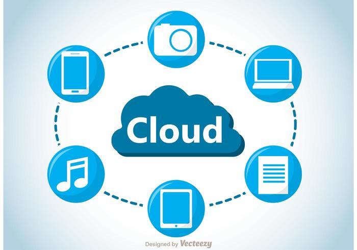 Vettore di concetto di calcolo della nuvola