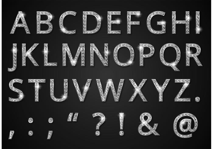 Diamond Alphabet Vector gratuito