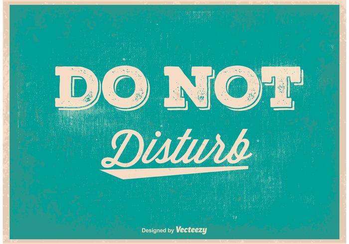 Non disturbare Poster vintage vettore