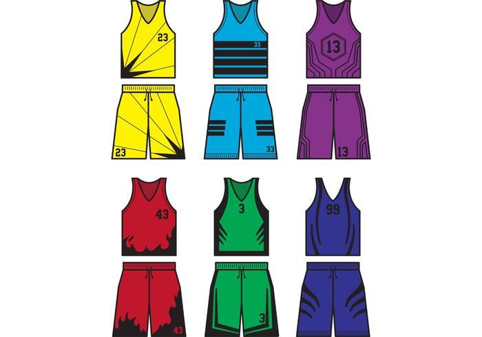 Vettori di Jersey di sport di pallacanestro