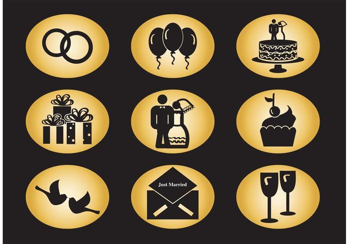 Icone di vettore di nozze
