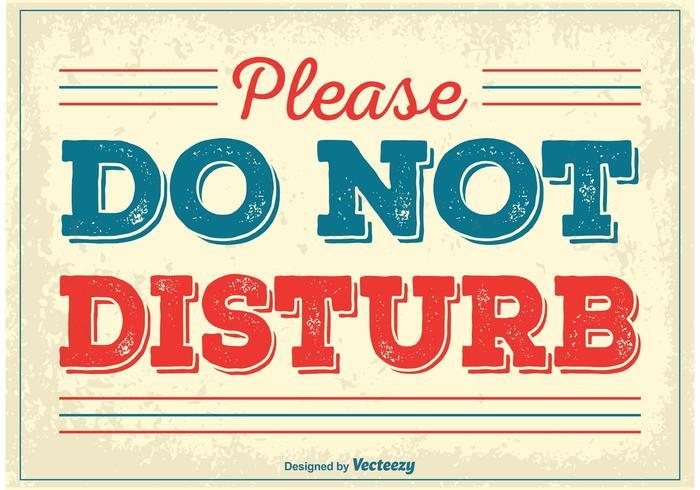Poster vintage Do Not Disturb vettore
