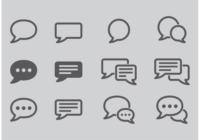 Icone di vettore di chat in diretta
