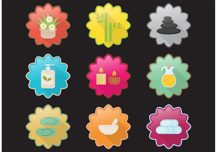 icone di incandescenza di vettore spa