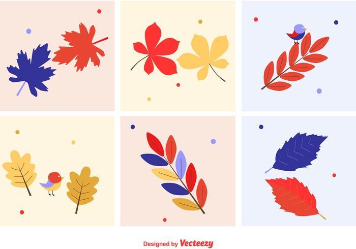 Vettori di foglie autunnali