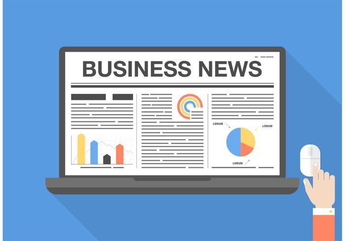 Grafico di vettore di notizie economiche gratis