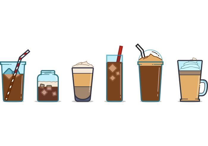 Vettori di tazza di caffè ghiacciato gratis