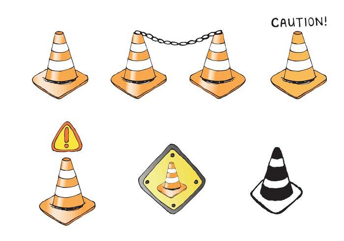 Serie di vettore cono arancione gratuito