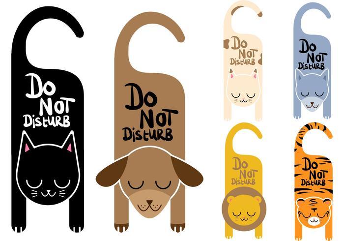 Non disturbare Vector Signs Animals