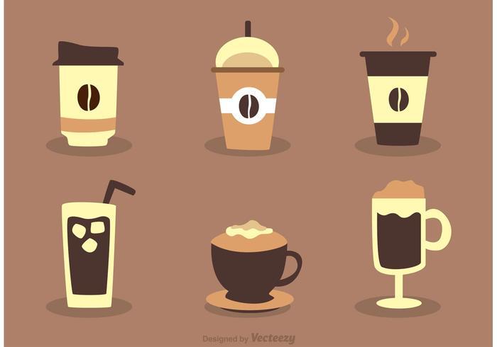 Vettori di bere caffè
