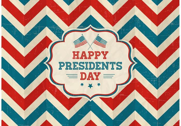 Vettore felice presidenti Day Retro Background