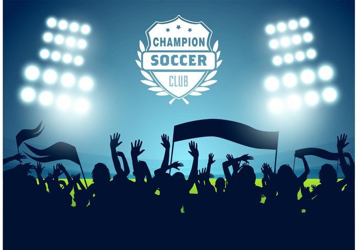 Vettore del manifesto di calcio di calcio