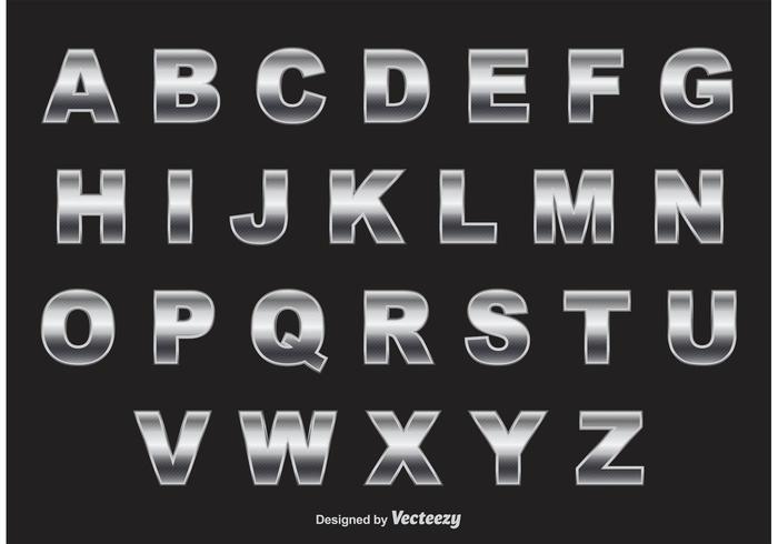 vettore di alfabeto di cromo