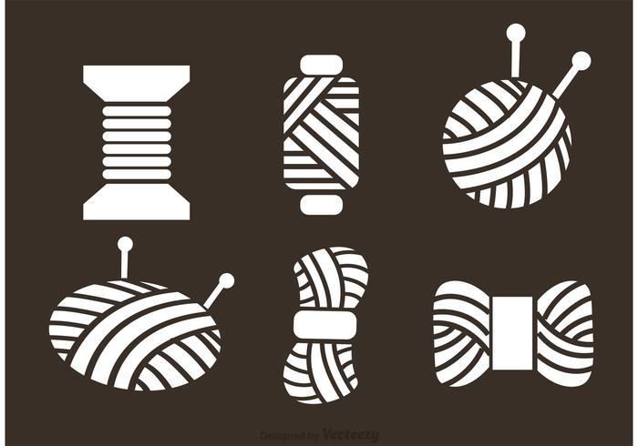Icone di vettore di palla di filato