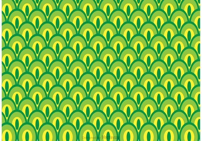 Vettore verde del modello di coda del pavone