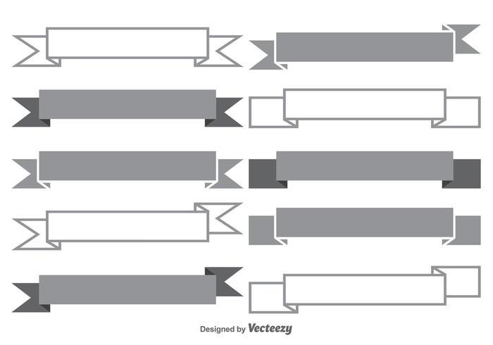 Set di forme banner vettore