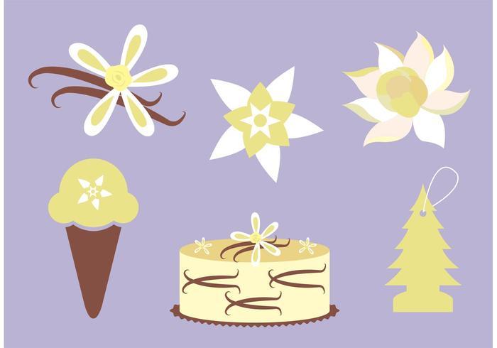 Vettori di fiori alla vaniglia