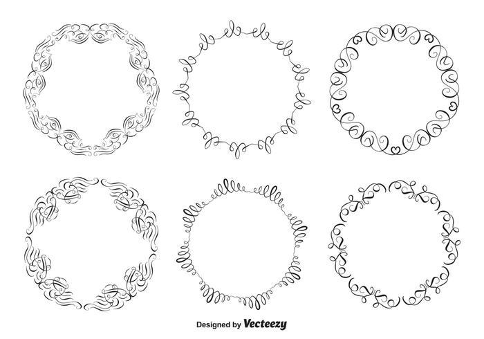 Set di cornici decorative vettore