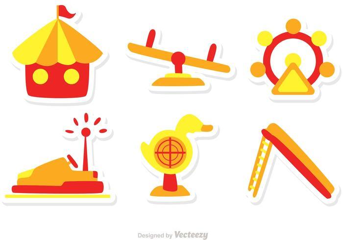 Pacchetto di icone del parco giochi vettore