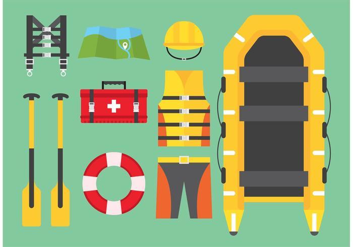 Vettori di rafting sul fiume