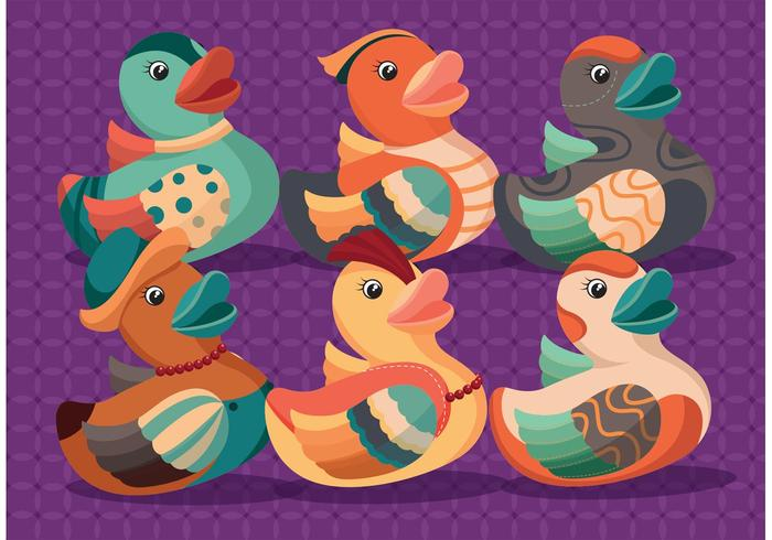 Vettori di anatra in gomma colorata