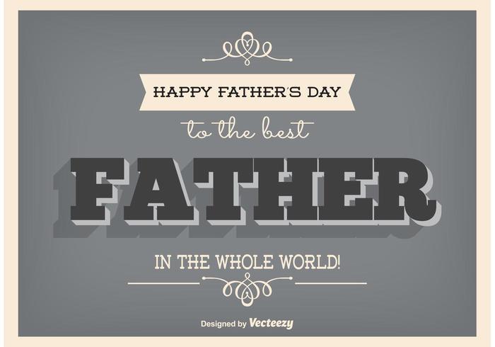 Poster tipografico per la festa del papà vettore