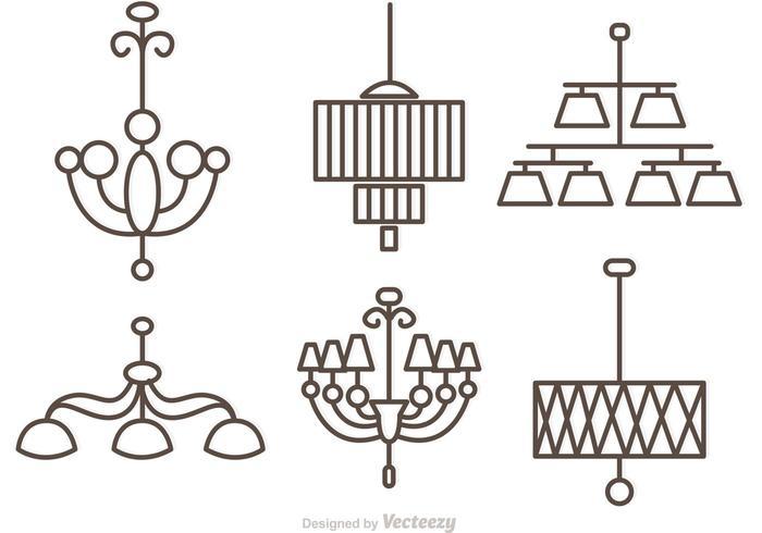 Vettori moderni del candeliere di cristallo Outlne