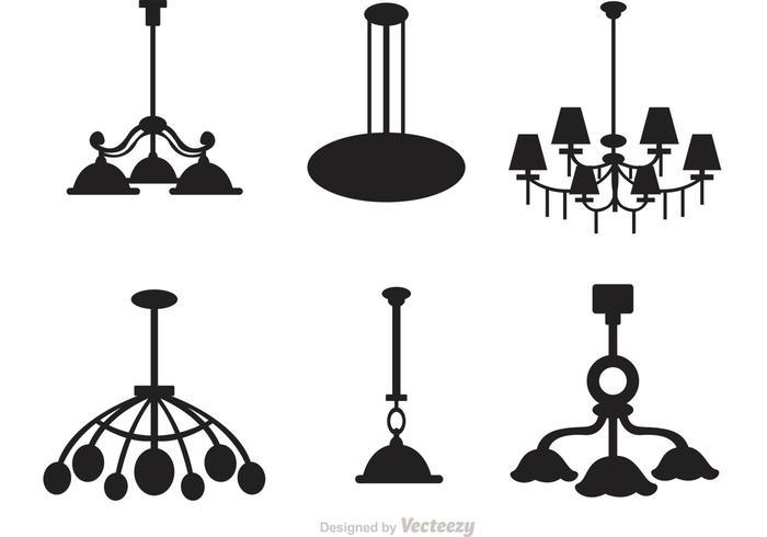 Insieme di vettore della siluetta del candeliere