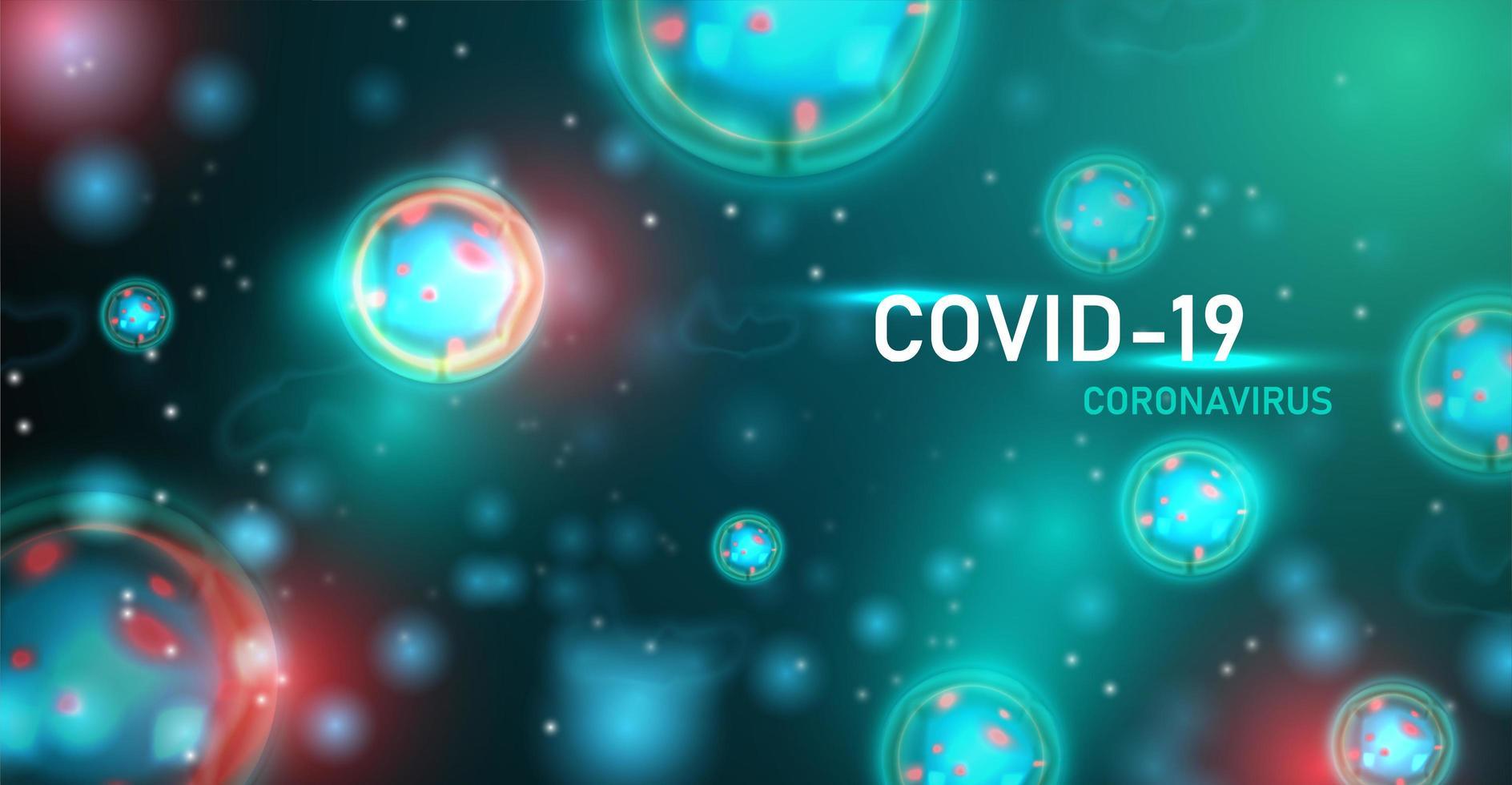 poster di infezione da coronavirus verde vettore