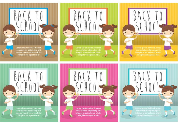 Vettori di carte di ritorno a scuola