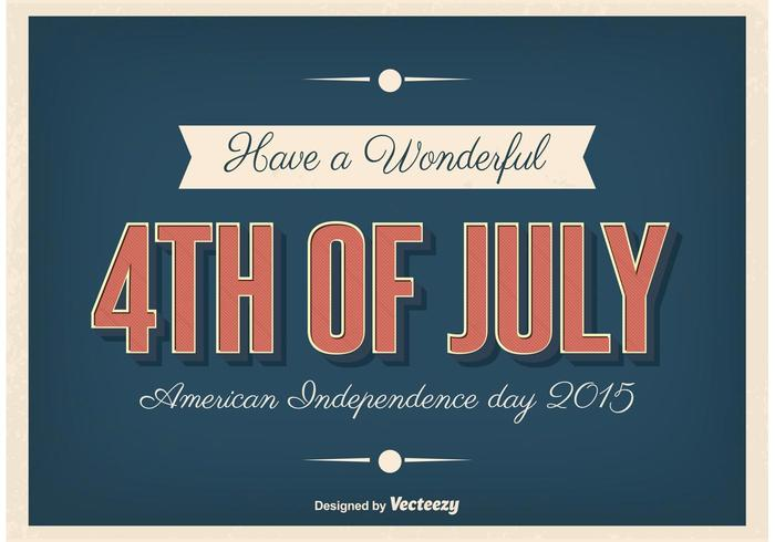 Poster tipografico Independence Day vettore