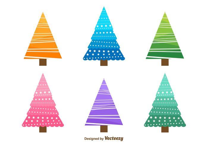 Doodles dell'albero di Natale vettore