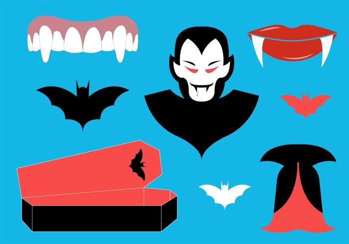 Raccolta di simboli Dracula vettore