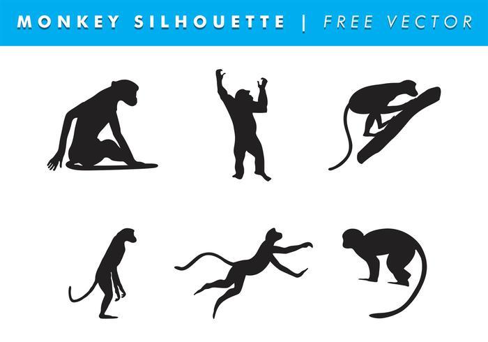 Monkey Silhouette Vector