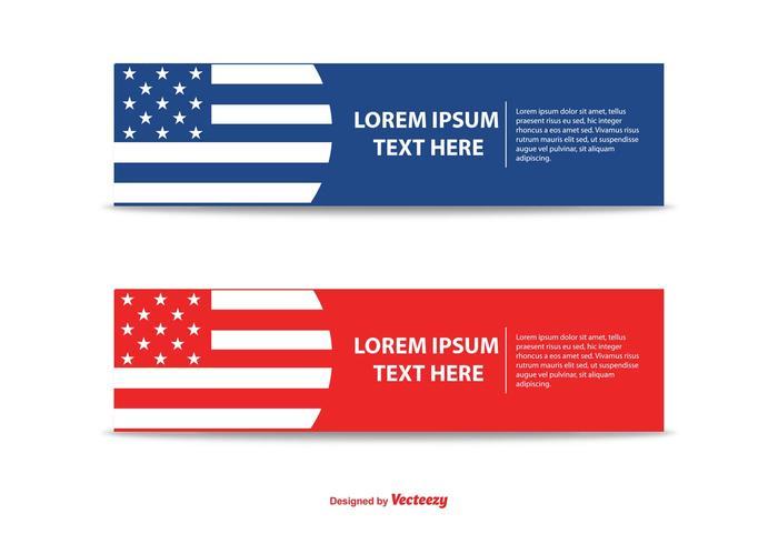 Set di banner patriottico moderno vettore