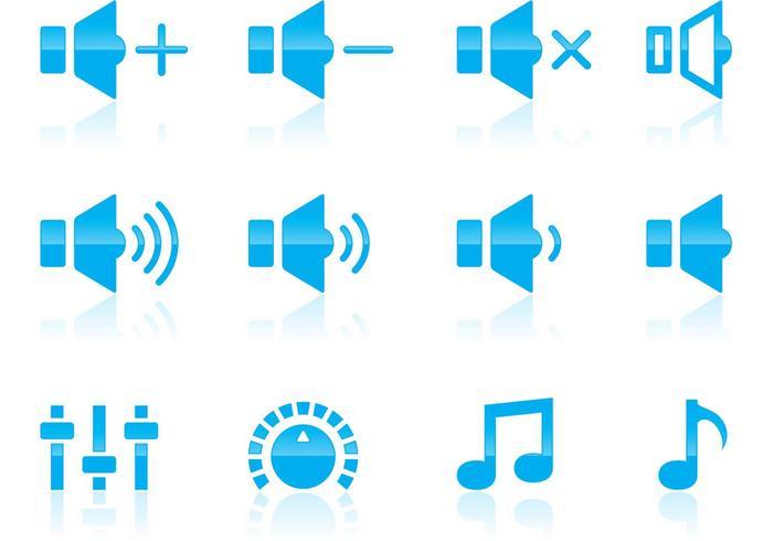 Volume e audio icone vettore