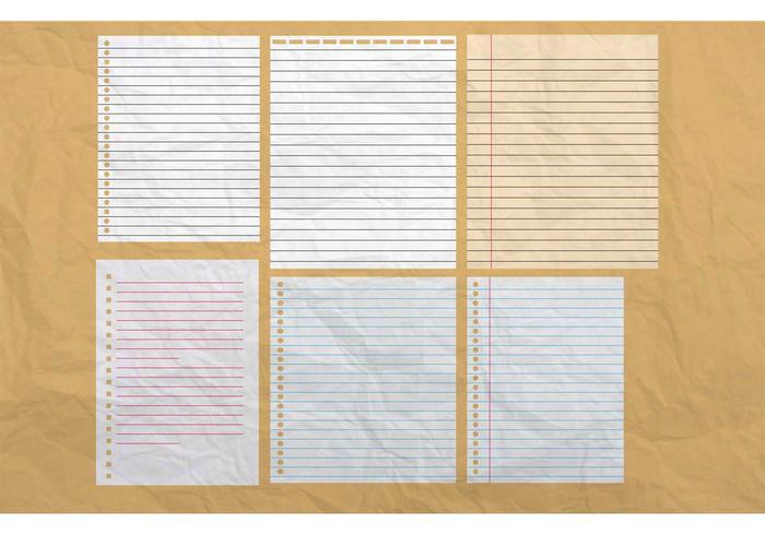 Vettori di sfondo di carta notebook