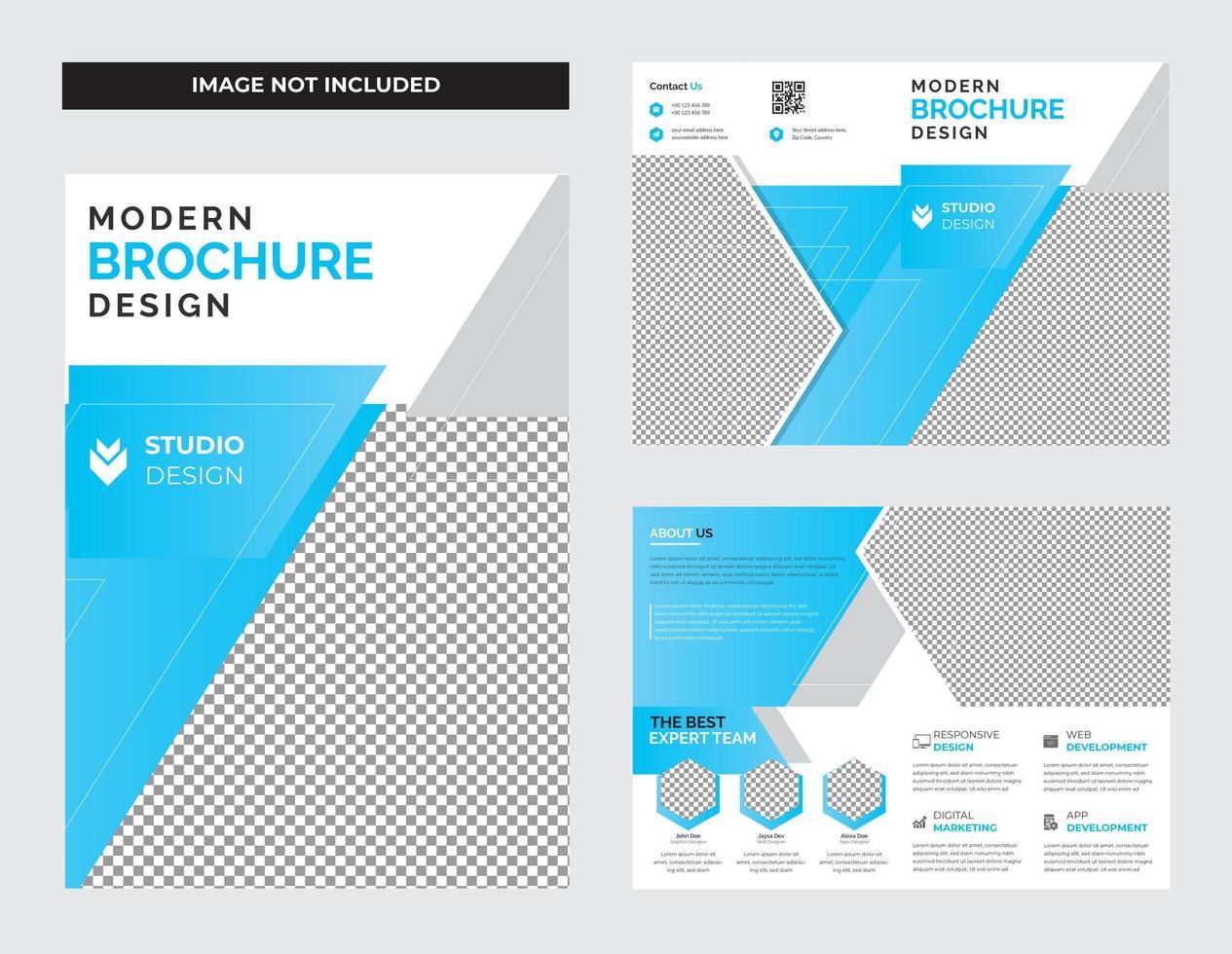 progettazione di brochure ripiegabili per le imprese vettore