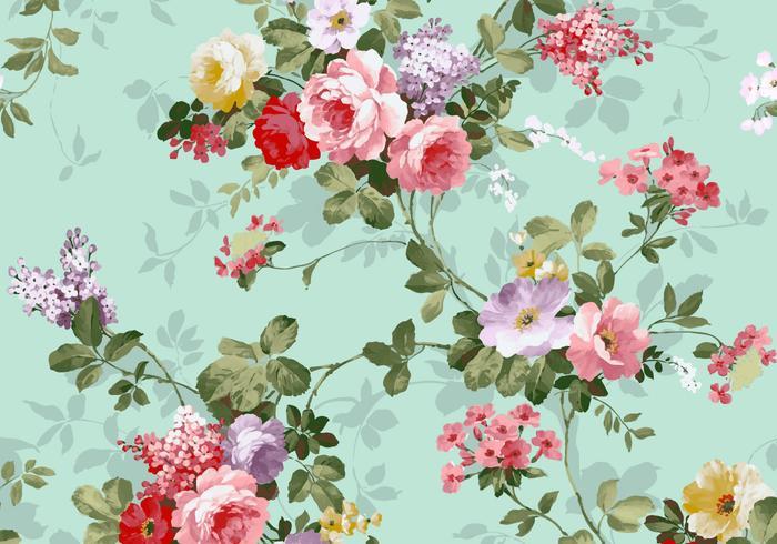 Bello fondo d'annata di vettore del tessuto delle rose rosse e di rosa