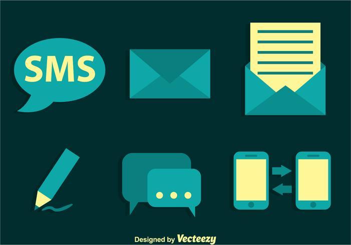 Icone vettoriali SMS
