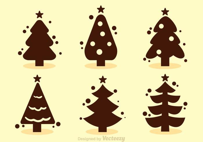 Vettori di sagoma dell'albero di Natale